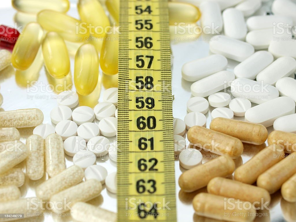 Pills and diet royalty-free stock photo