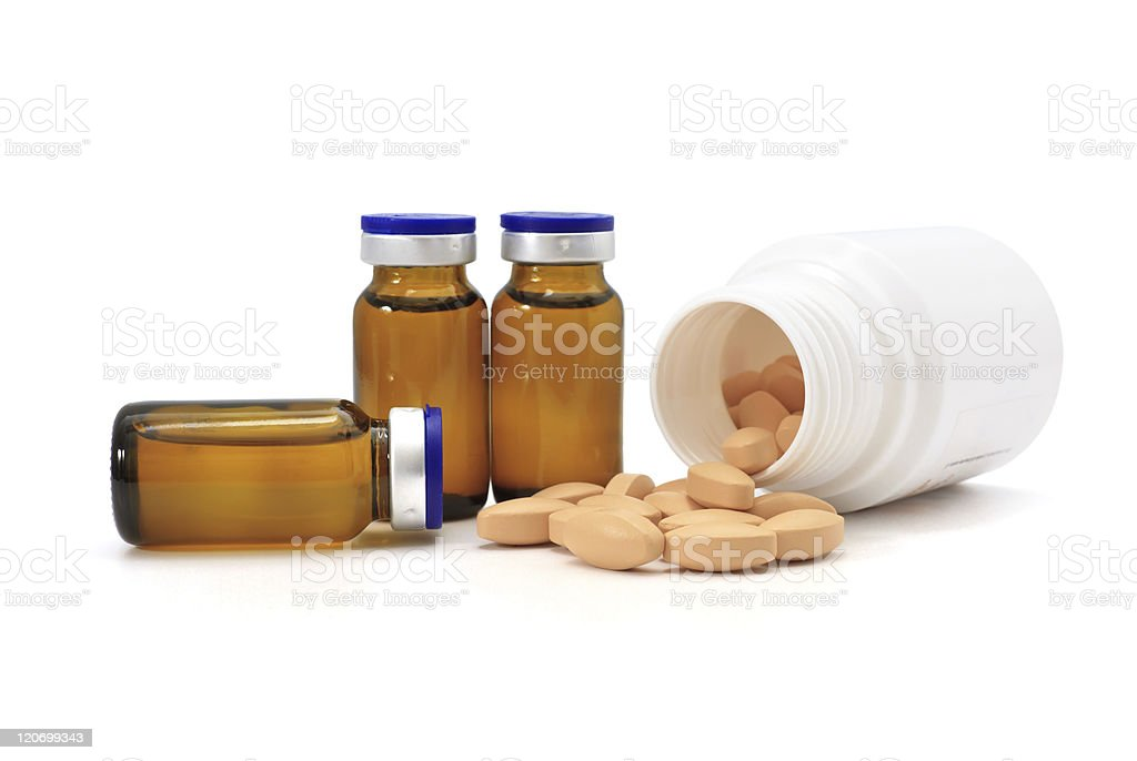 pills and medicine bottles royalty-free stock photo