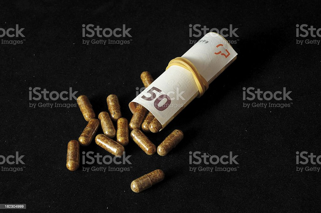 Pills And Money royalty-free stock photo