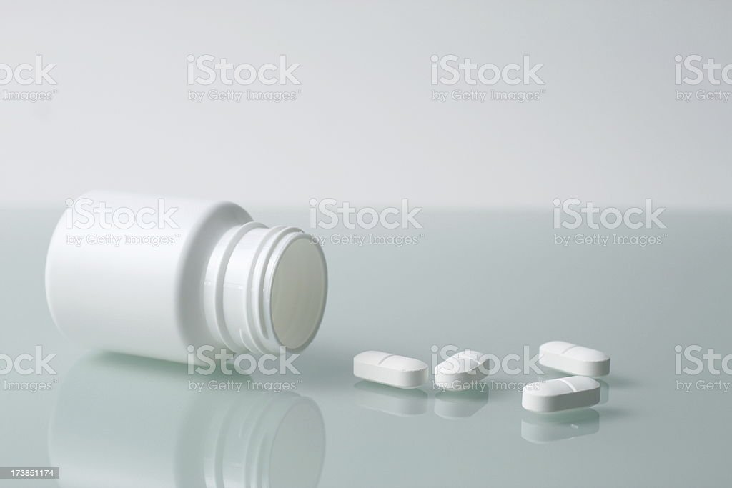 Pills and Pillbox royalty-free stock photo