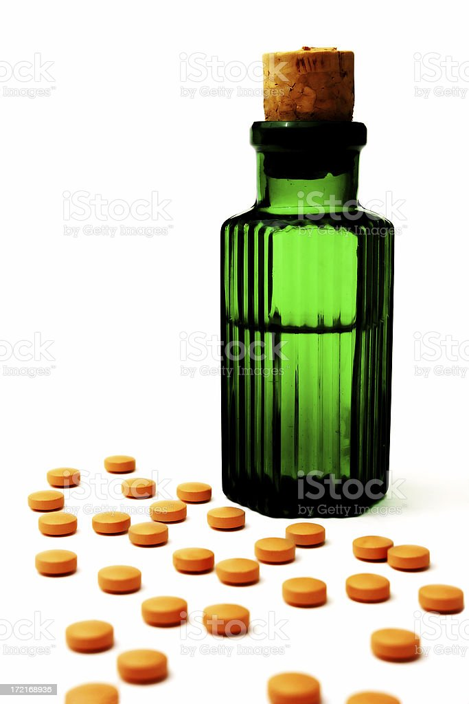 Pills and Potions royalty-free stock photo