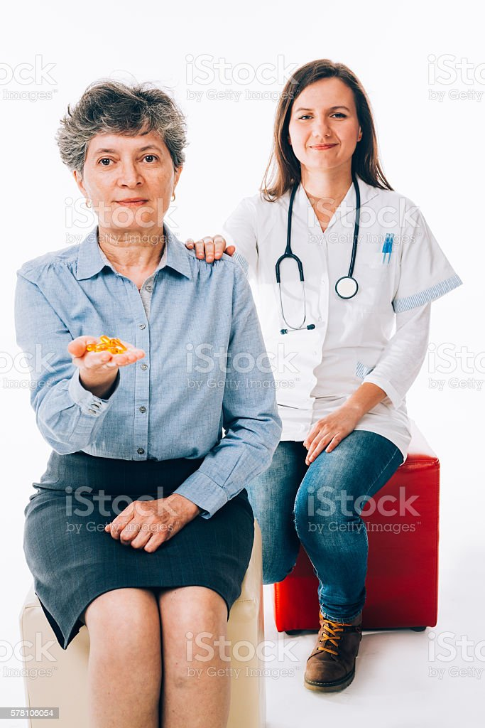 Pills and treatments stock photo
