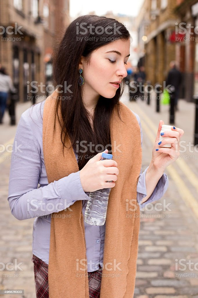 pills and water royalty-free stock photo