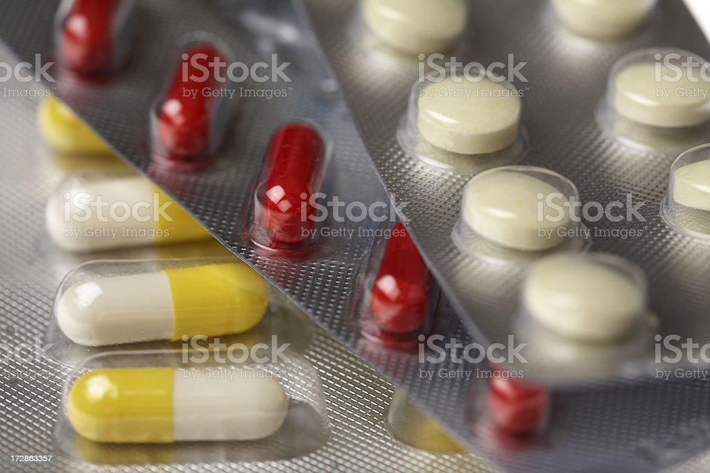 Pills Blisters Close up royalty-free stock photo