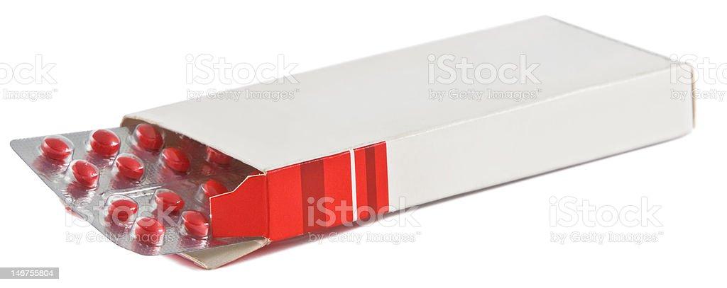 Pills box royalty-free stock photo