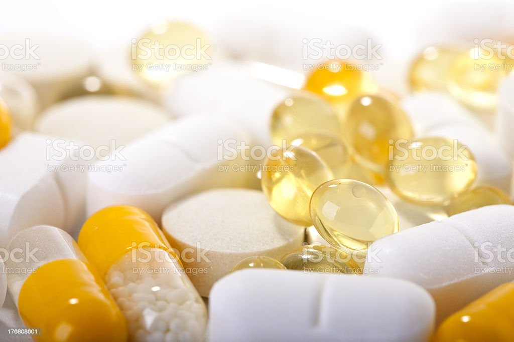 'pills, capsules and tablets' stock photo