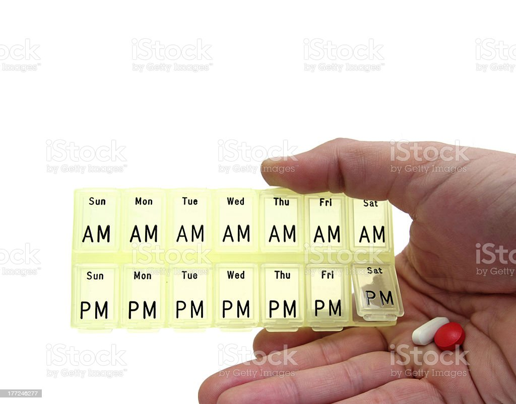 pills dispenser box royalty-free stock photo