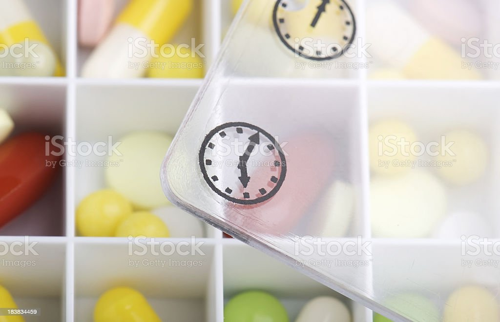 Pills dose box. stock photo