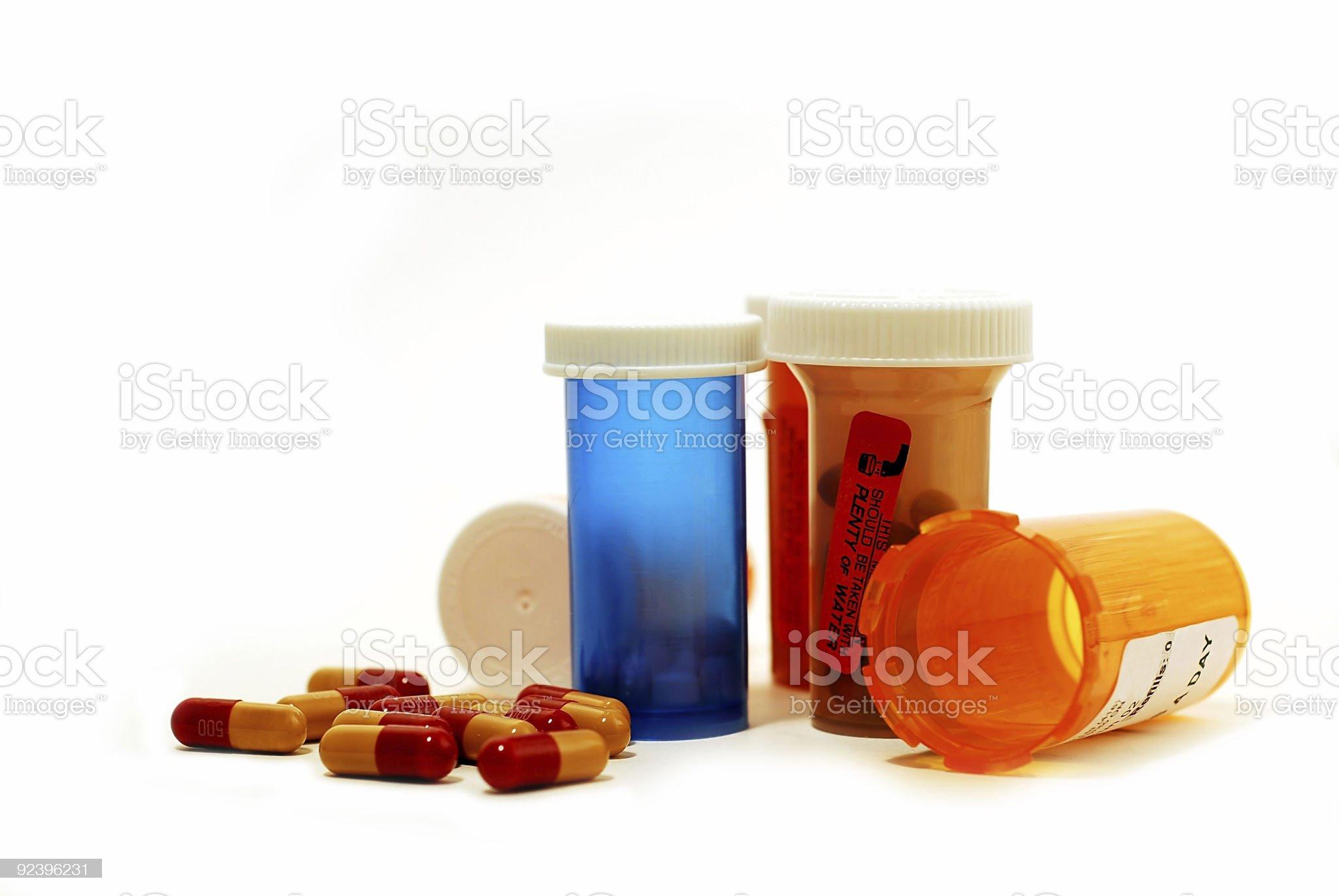 Pills drugs white royalty-free stock photo