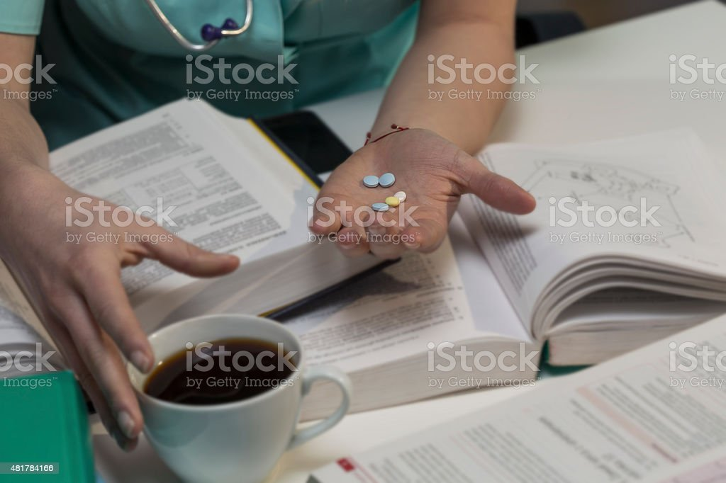 Pills for better concentration stock photo