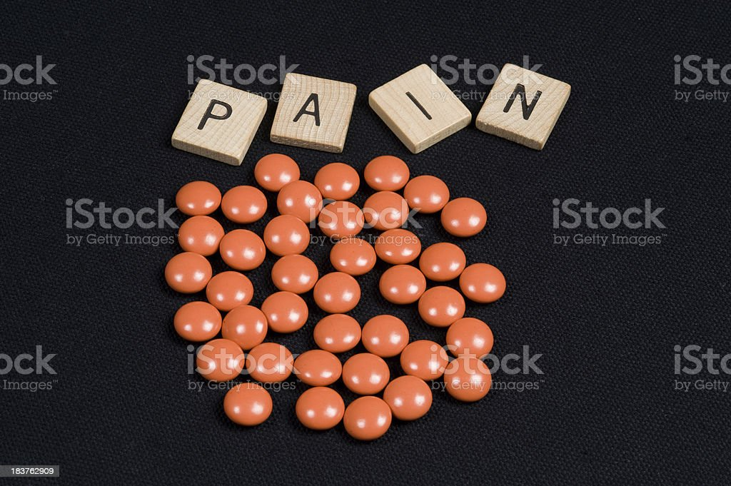 Pills For Pain stock photo