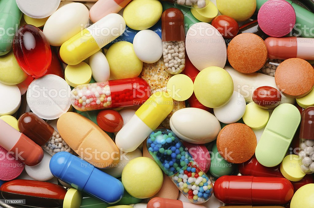 Pills - full frame stock photo