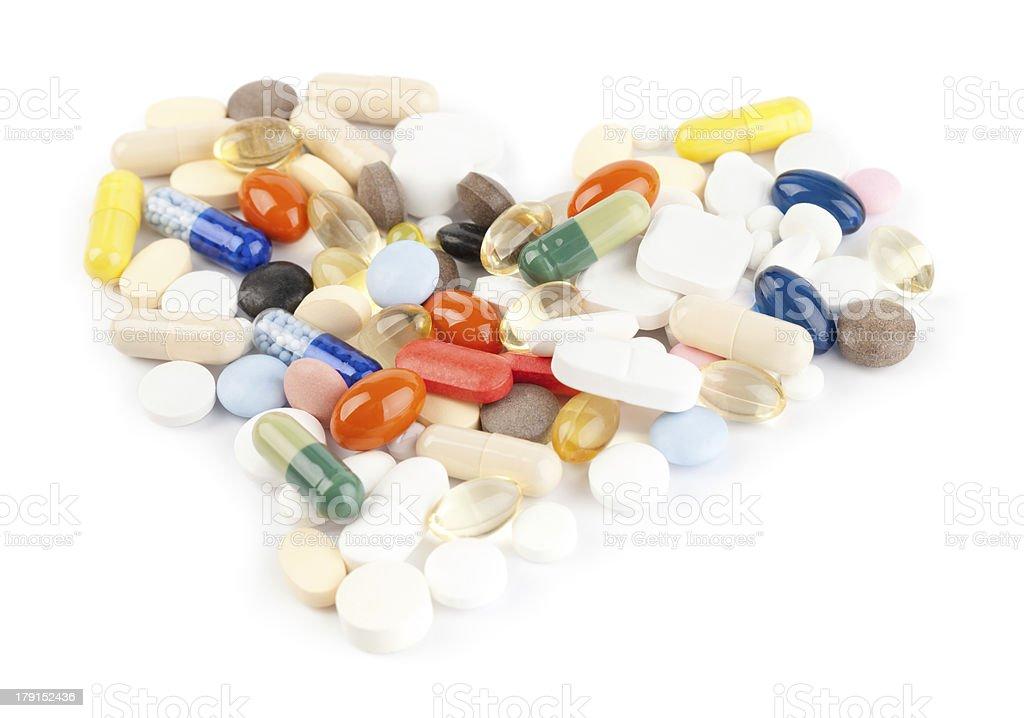 Pills heart royalty-free stock photo