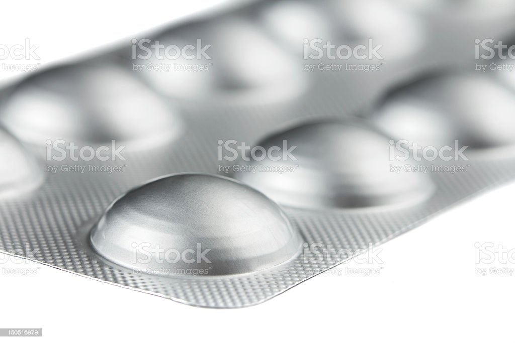 Pills in a blister pack stock photo