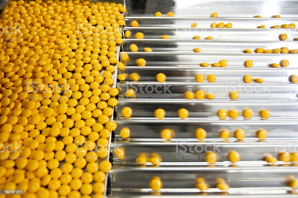 Pills In a Pharmaceutical  Industry stock photo