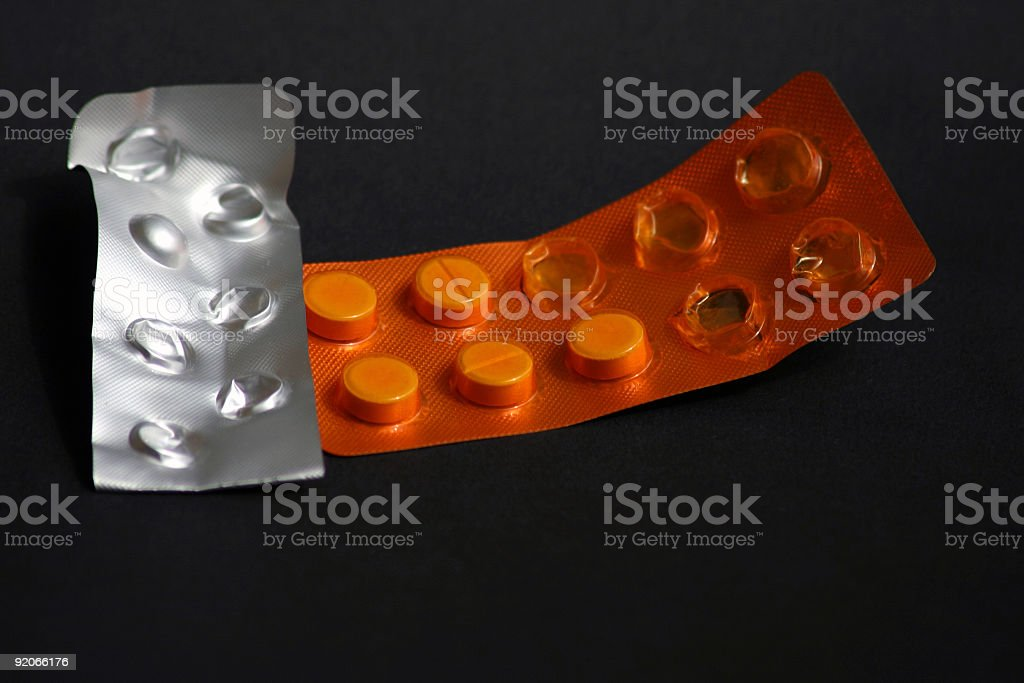 Pills in blister pack royalty-free stock photo