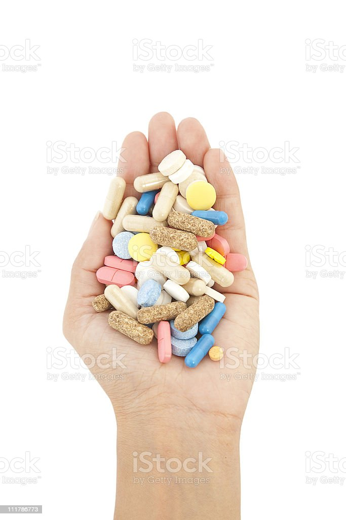 pills in hands royalty-free stock photo