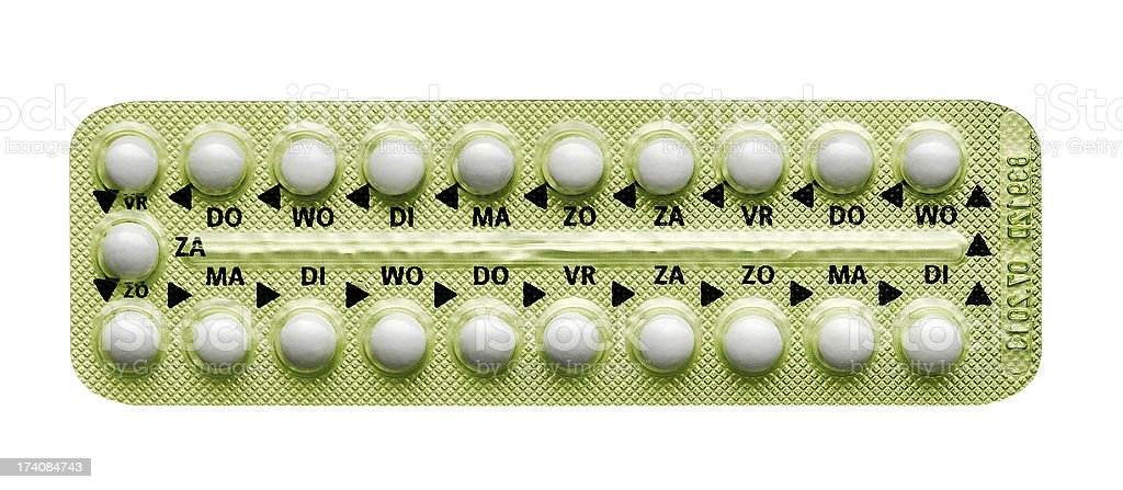 pills in strip stock photo