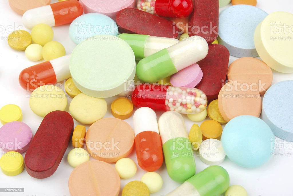 pills isolated on white background royalty-free stock photo