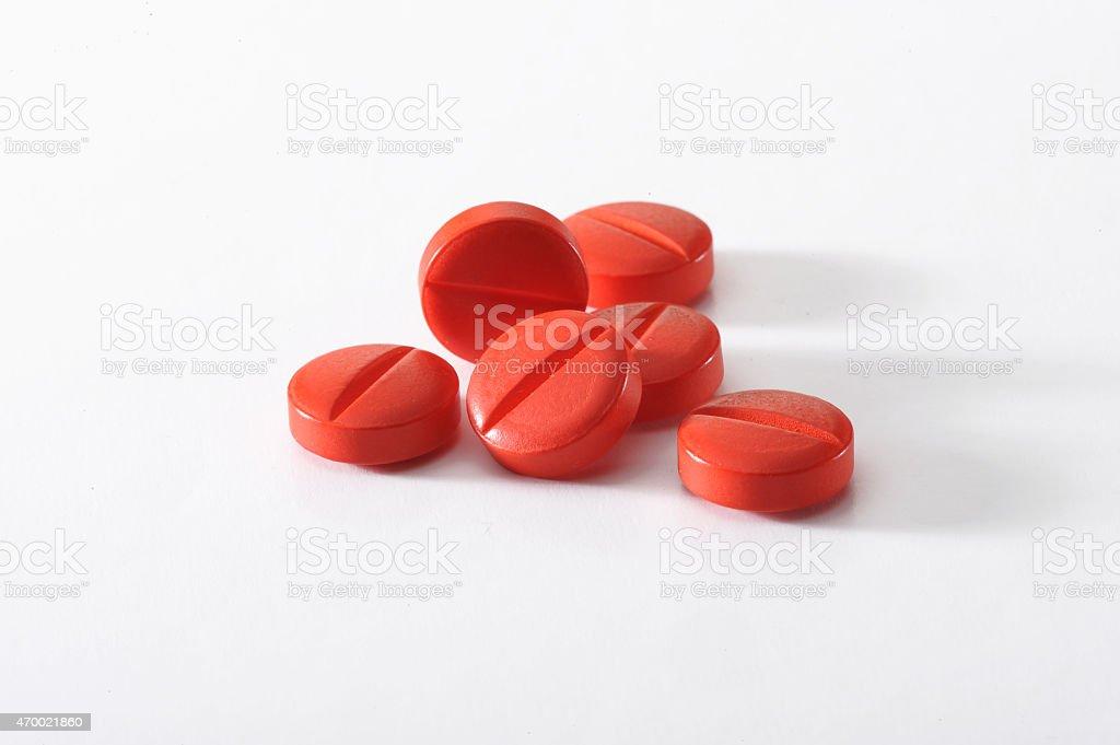 pills isolated on white background stock photo