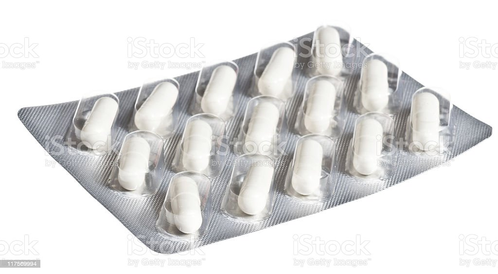 pills isolated on whitebackground royalty-free stock photo