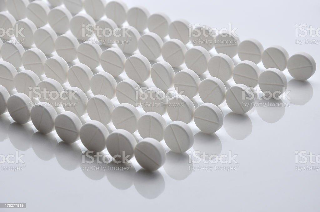 Pills line royalty-free stock photo