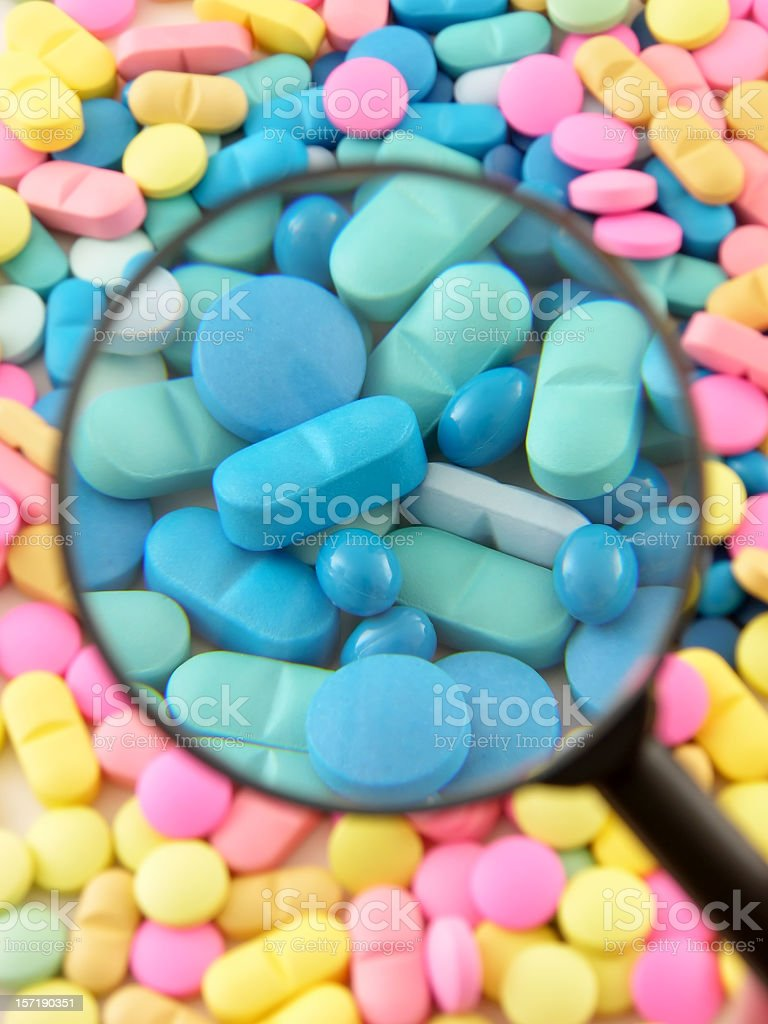 Pills magnification royalty-free stock photo