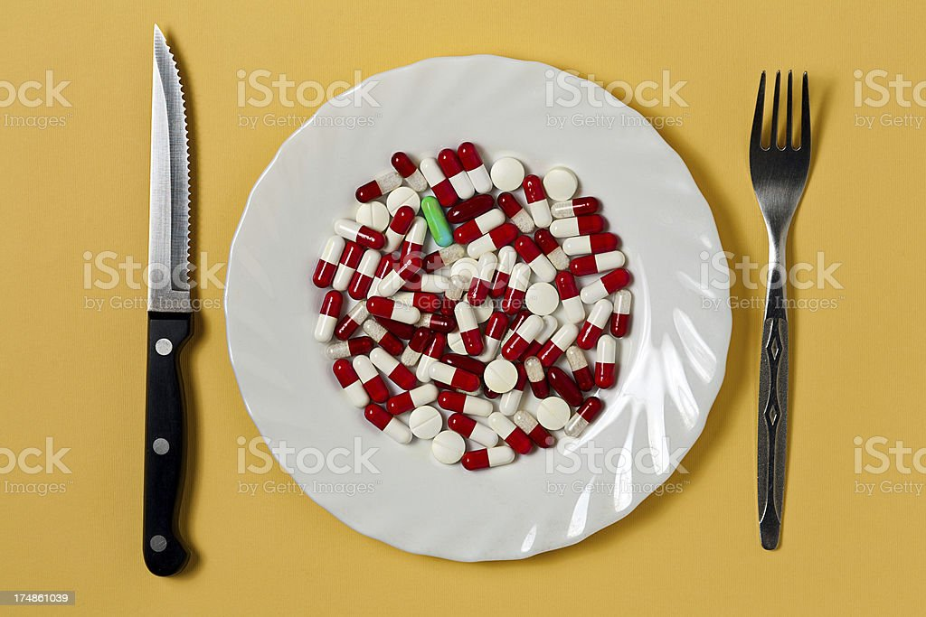 Pills meal royalty-free stock photo