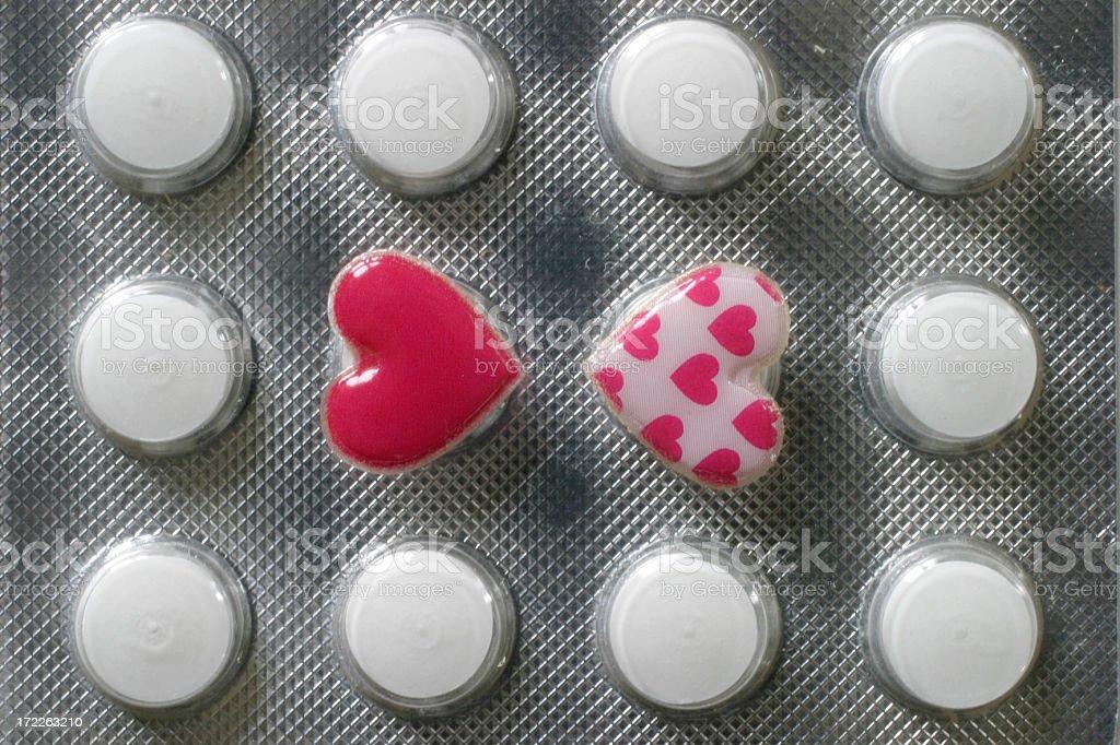 Pills of Love royalty-free stock photo