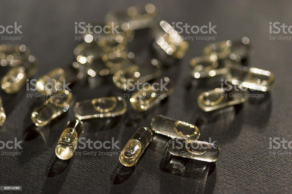 pills of omega 3 royalty-free stock photo