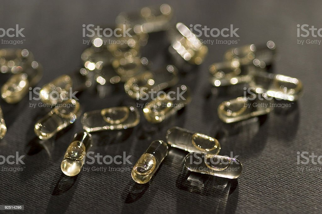 pills of omega 3 stock photo