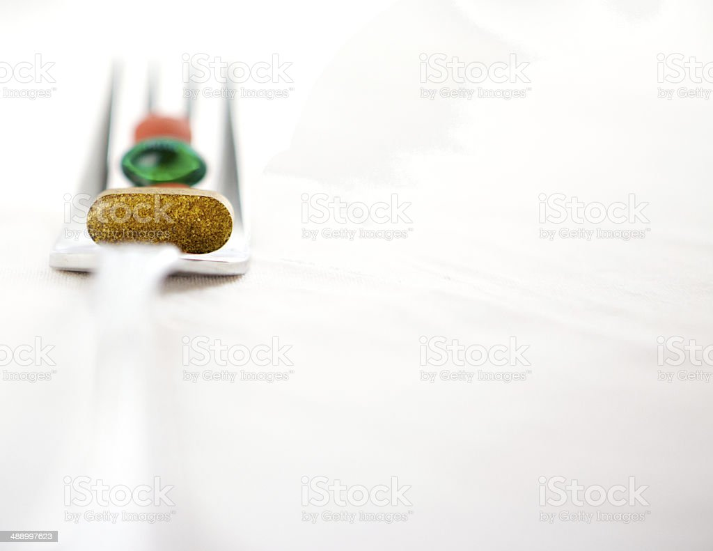 Pills On Fork royalty-free stock photo