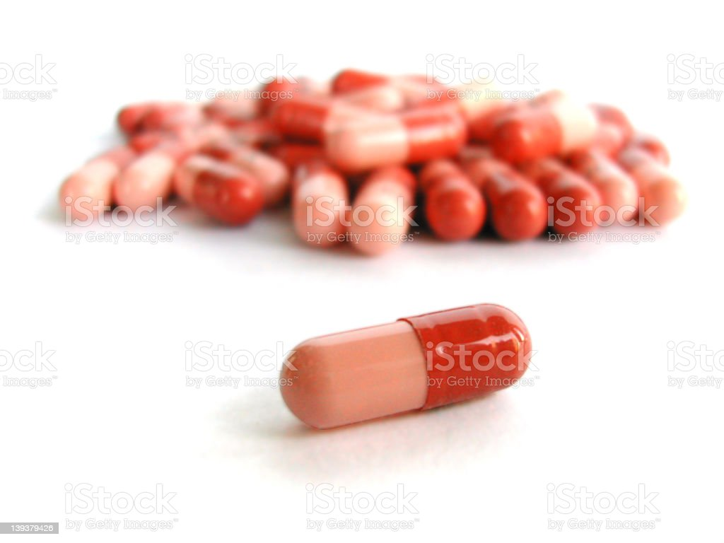 Pills on white background royalty-free stock photo