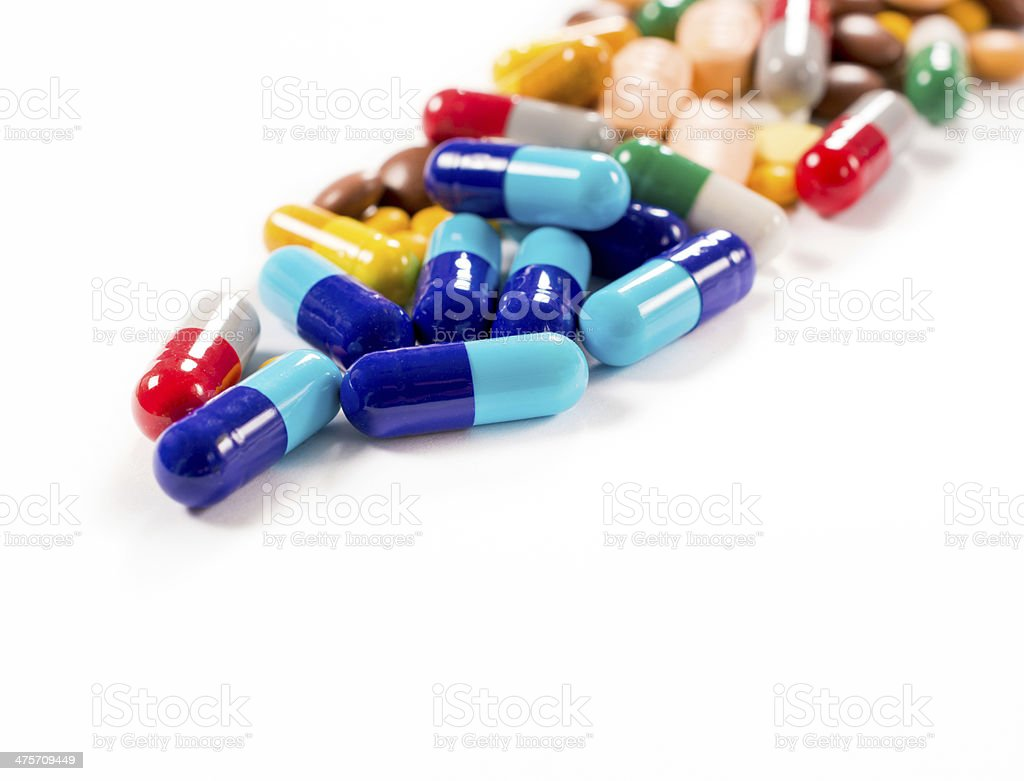 Pills on white background royalty-free stock photo