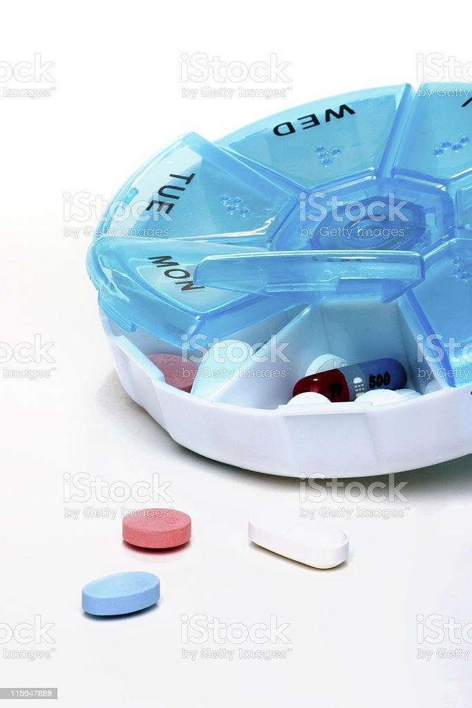 Pills planner royalty-free stock photo