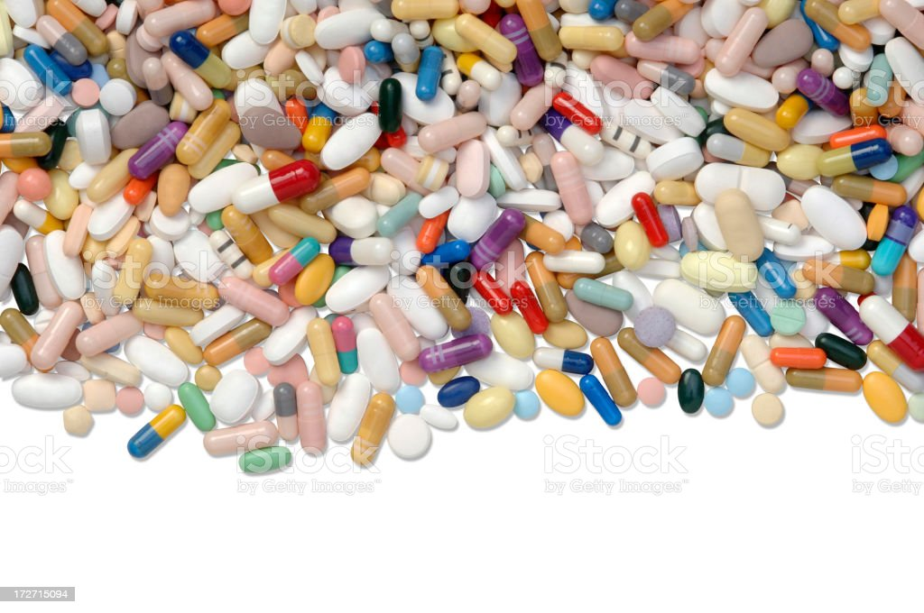 Pills with Path stock photo