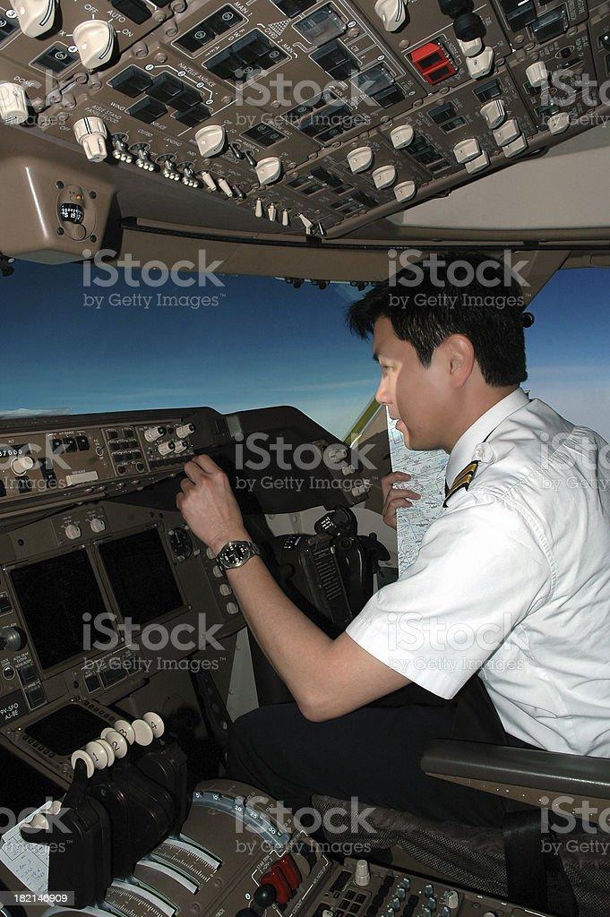 Pilot At Work royalty-free stock photo