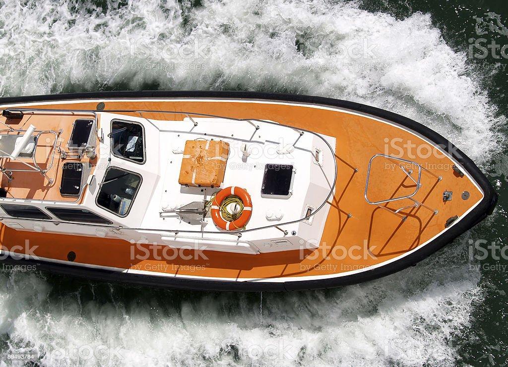 Pilot boat in Caribbean royalty-free stock photo