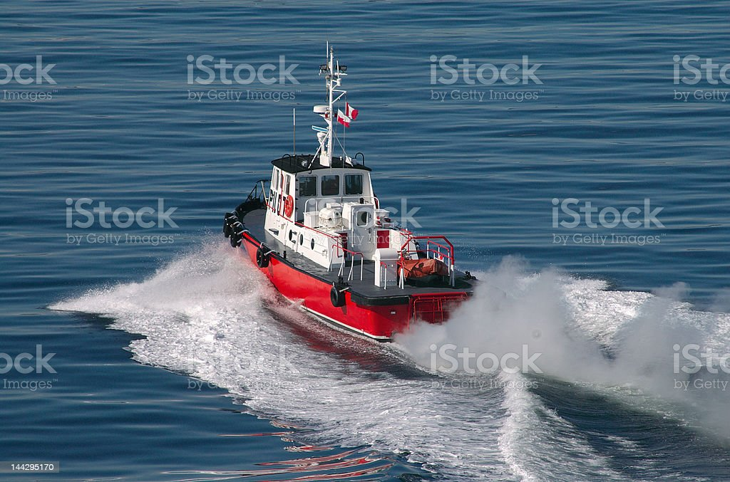 Pilot Boat In Victoria British Columbia stock photo
