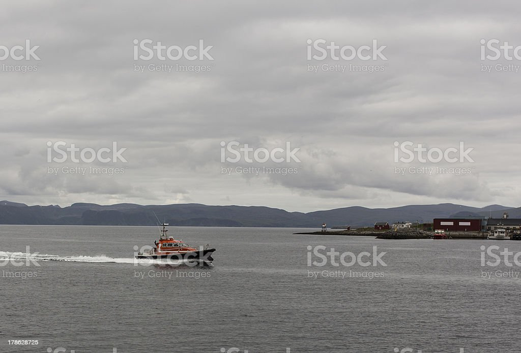 Pilot Boat. stock photo