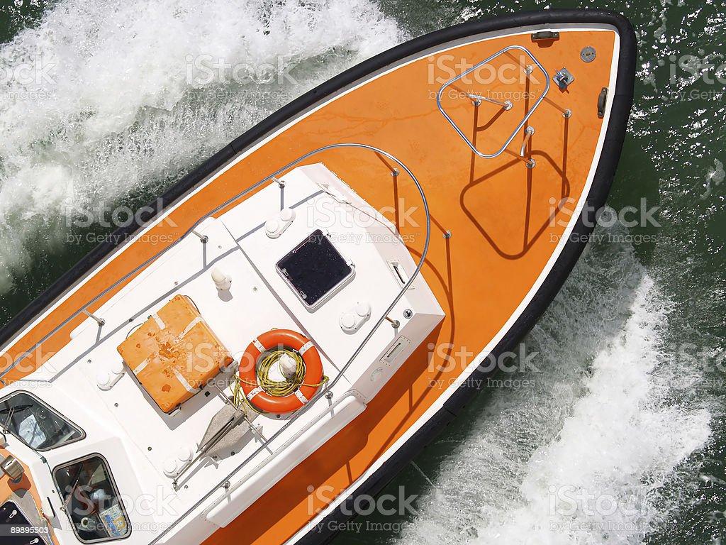 Pilot boat royalty-free stock photo