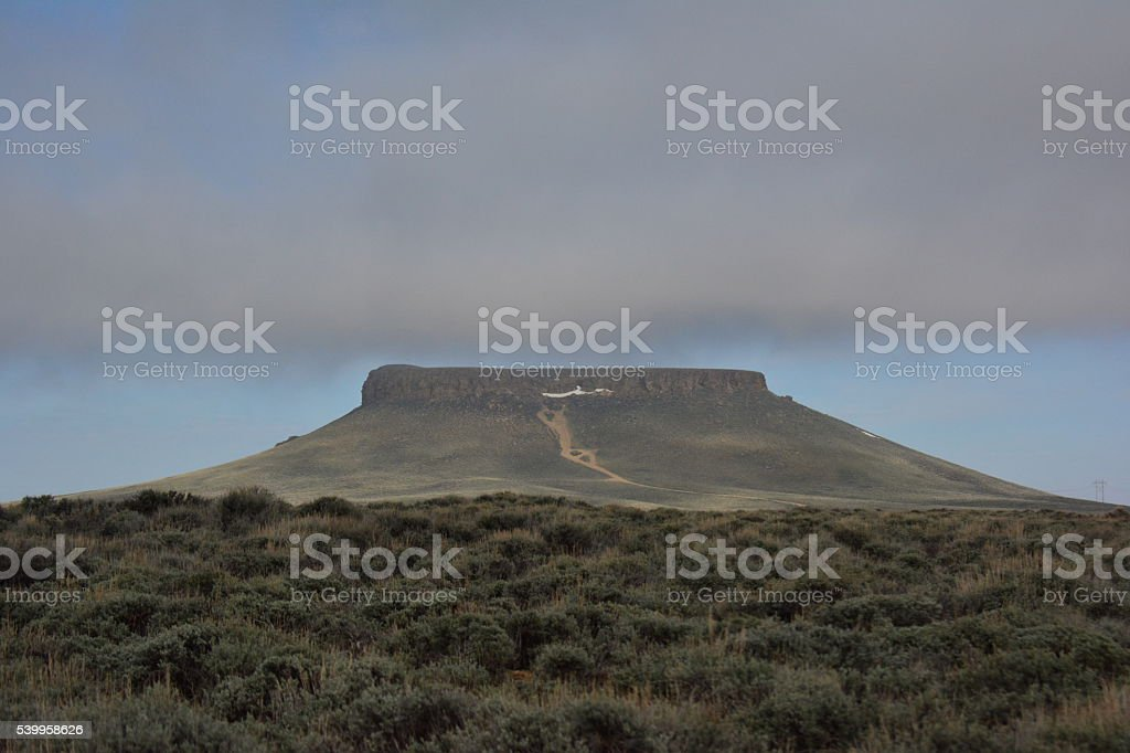 Pilot Butte Wyoming stock photo
