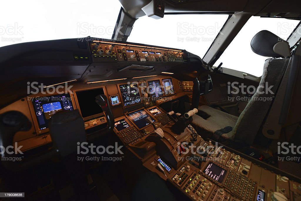 pilot cockpit royalty-free stock photo