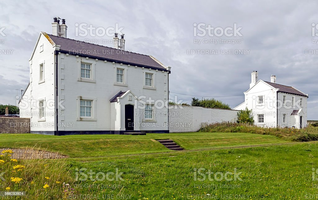 Pilot Cottages, Anglesey stock photo