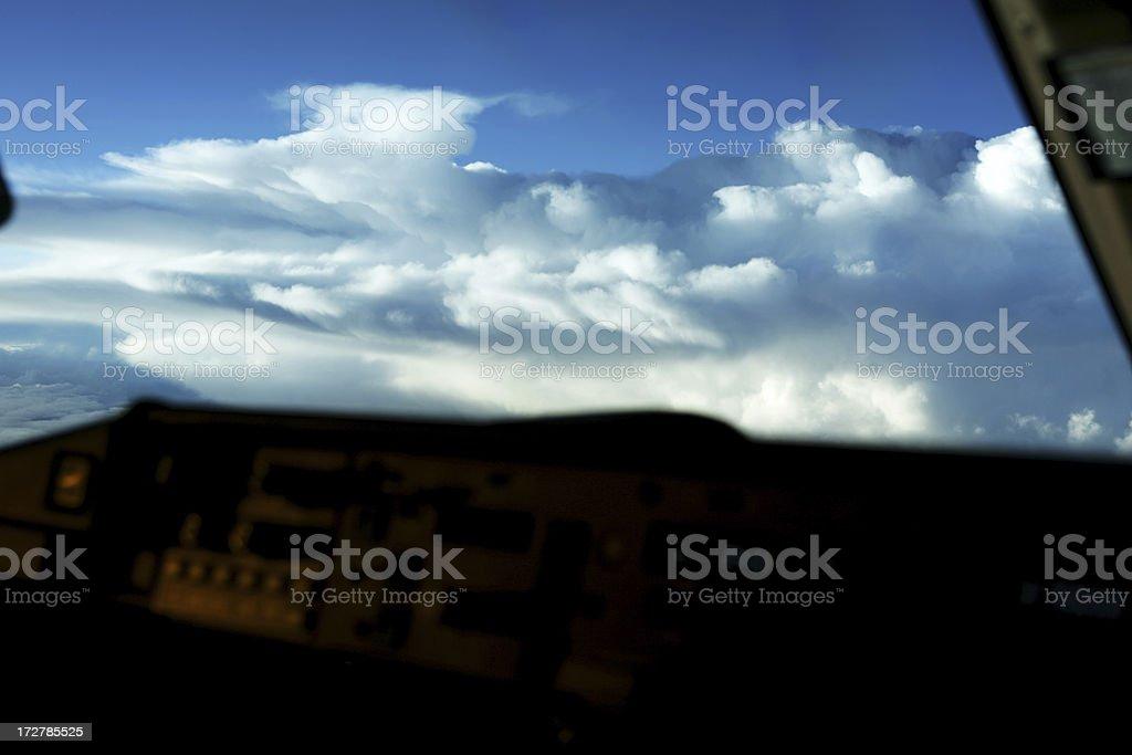 Pilot Eye View stock photo