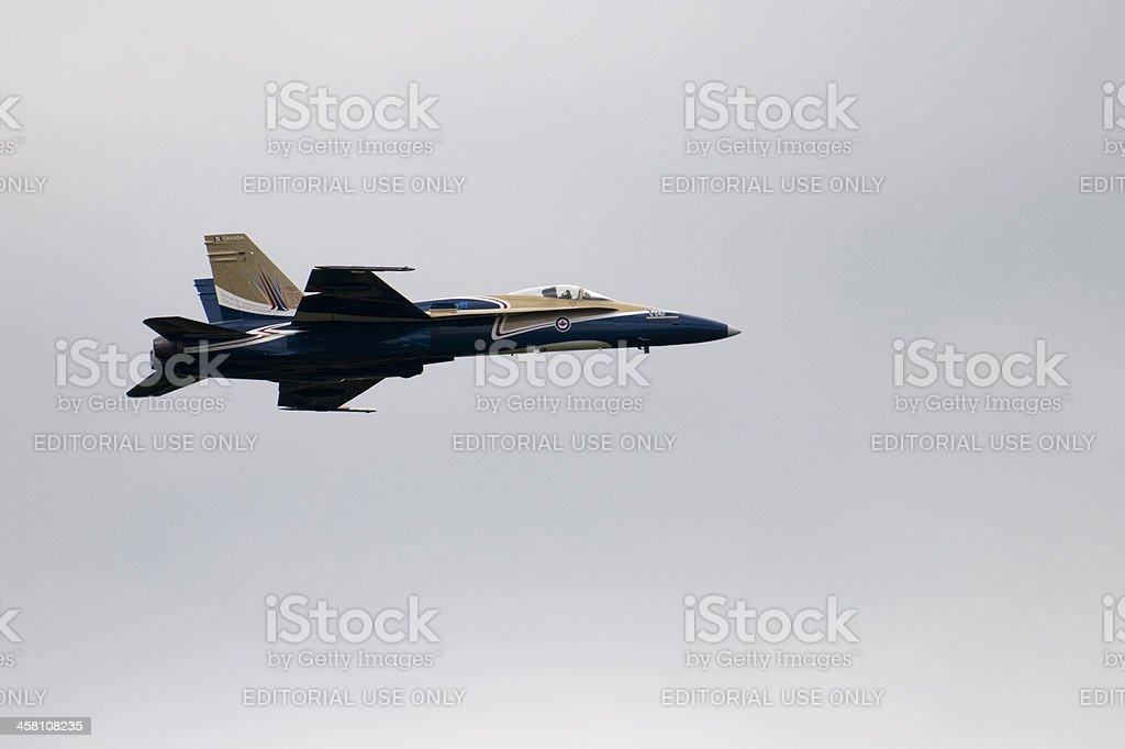 Pilot Flying CF-18 stock photo