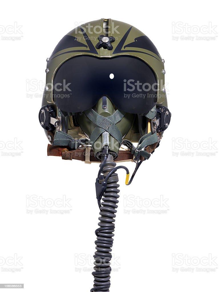 Pilot helmet stock photo
