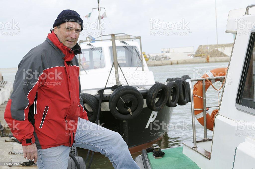 pilot inside harbor royalty-free stock photo