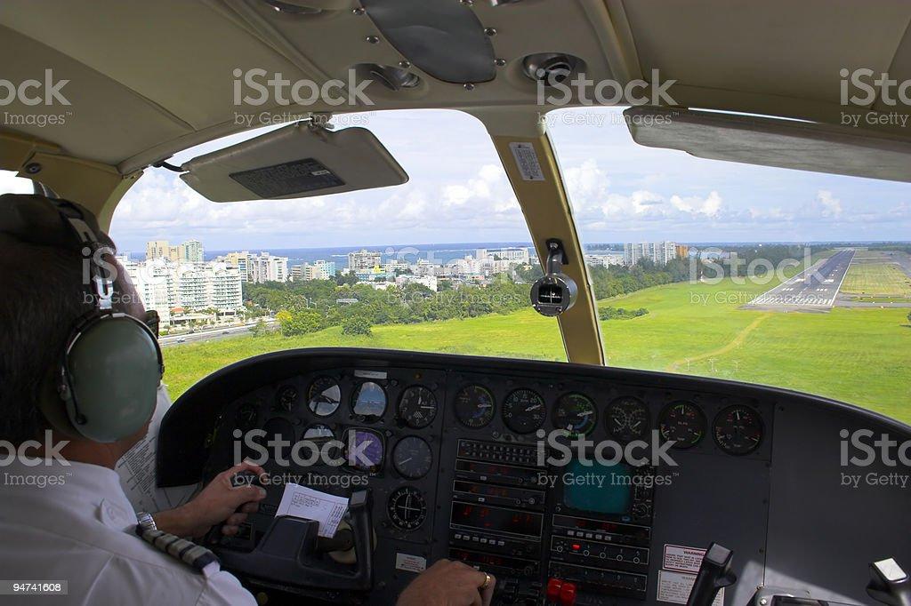 Pilot landing royalty-free stock photo