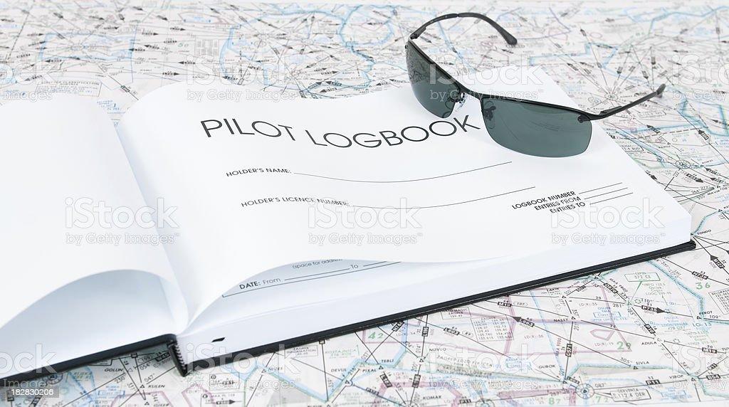 Pilot Logbook royalty-free stock photo